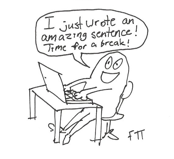 I wrote amazing sentence